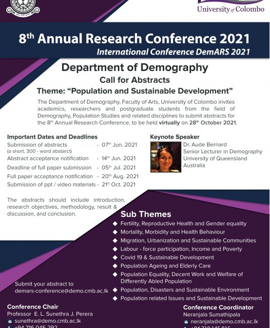 8th Annual Research Conference – (DemARS 2021 )