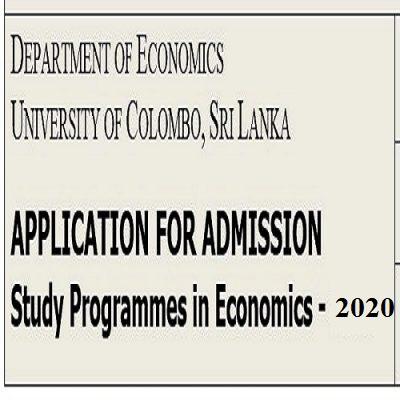Study Programmes in Economics – 2020