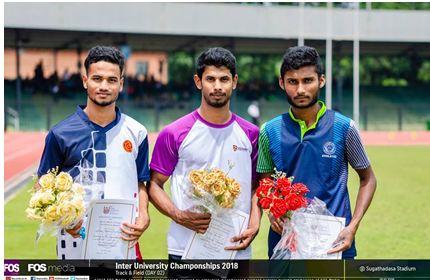 M.S.N. Kumara brings honor to the University – Inter University Championship 2018