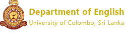 Department of English | Faculty of Arts, University of Colombo
