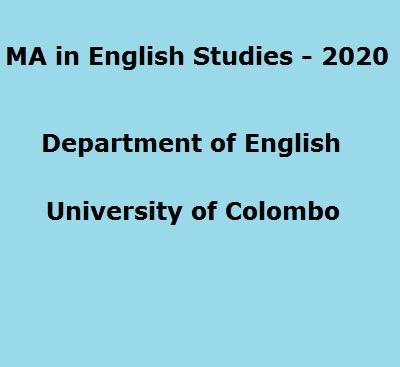 MA in English Studies – 2020