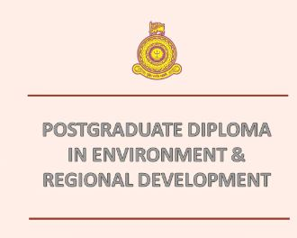 PG Diploma in Environment and Regional Development – 2019