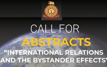 """INCoRe International Conference on """"International Relations and the Bystander Effects"""" :  21st & 22nd Nov. 2020"""
