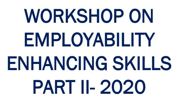 "2nd Webinar on ""Employabilty Enhancing Skills"" – 27th June"