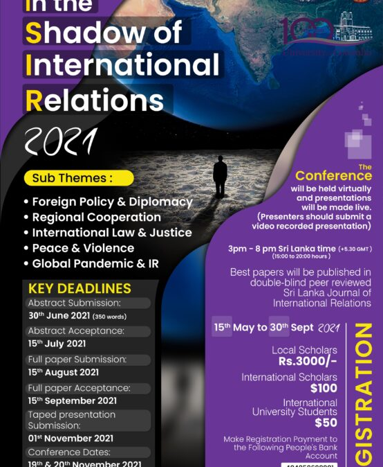 INCOIRe 2021 International Conference –  19th – 20th Nov. 2021