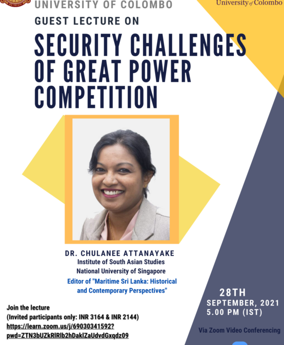 Guest Lecture on Security Challenges of Great Power Competition