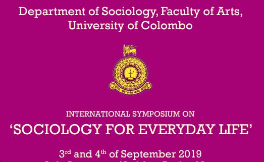International Symposium on 'SOCIOLOGY FOR EVERYDAY LIFE' : 3rd – 4th Sept.