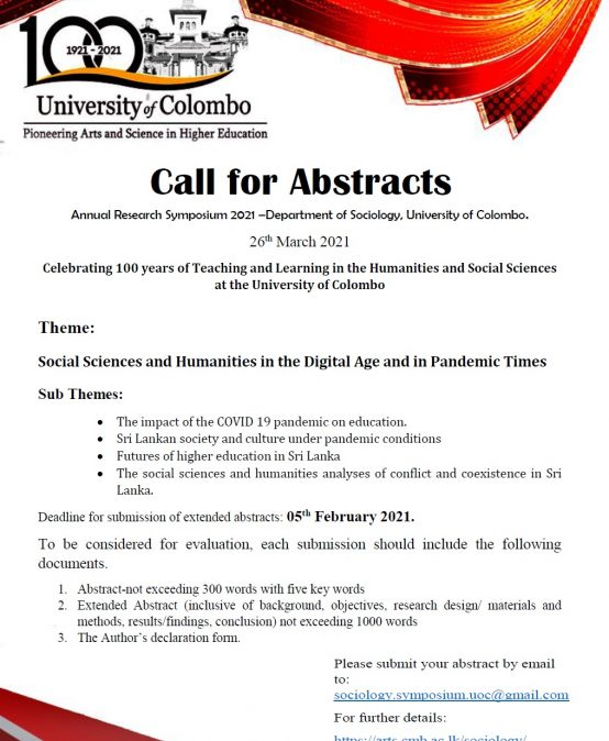Annual Research Symposium 2021 – Social Sciences and Humanities in the Digital Age and in Pandemic Times