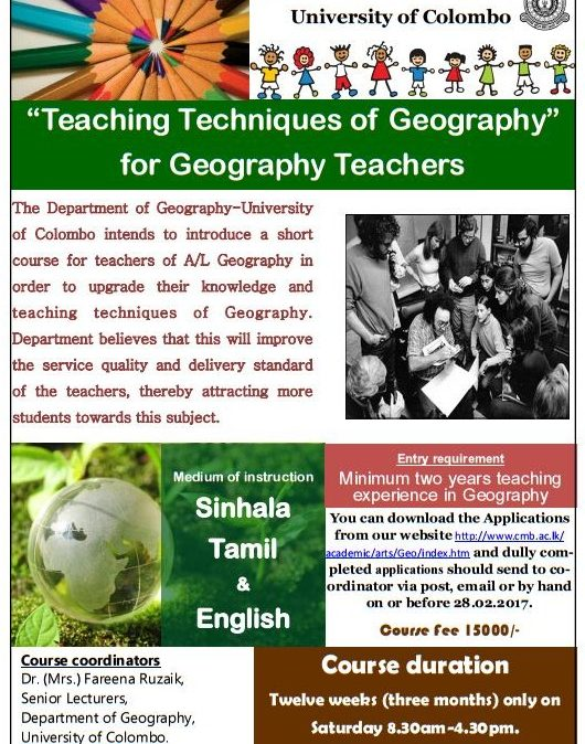 Advanced Certificate Course for Geography Teachers – 2017