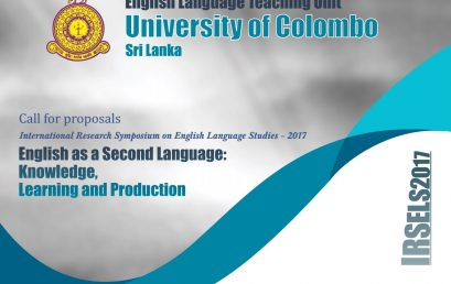 International Research Symposium on English Language Studies – 28th Sept.