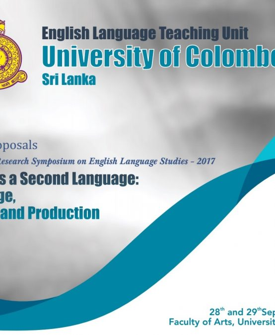 International Research Symposium on English Language Studies – 2017