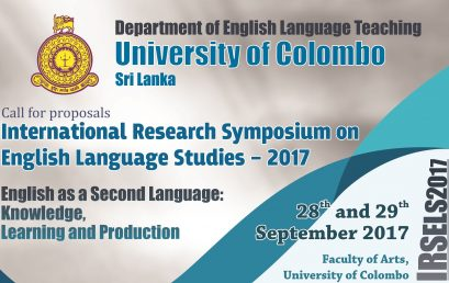 International Research Symposium on English Language Studies – 28th Sept.