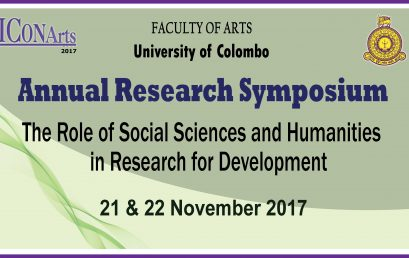 Annual Research Symposium – Faculty of Arts – 21st & 22nd Nov.
