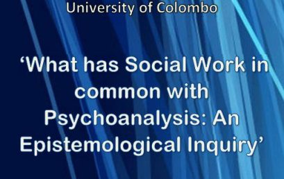 "Seminar on ""What has Social Work in common with Psychoanalysis: An Epistemological Inquiry"" – 14th Sept."