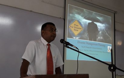 Guest Lecture on 'Natural Hazards' – 14th Nov.