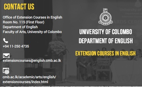 Extension Courses in English – 2018 / 2019 intake
