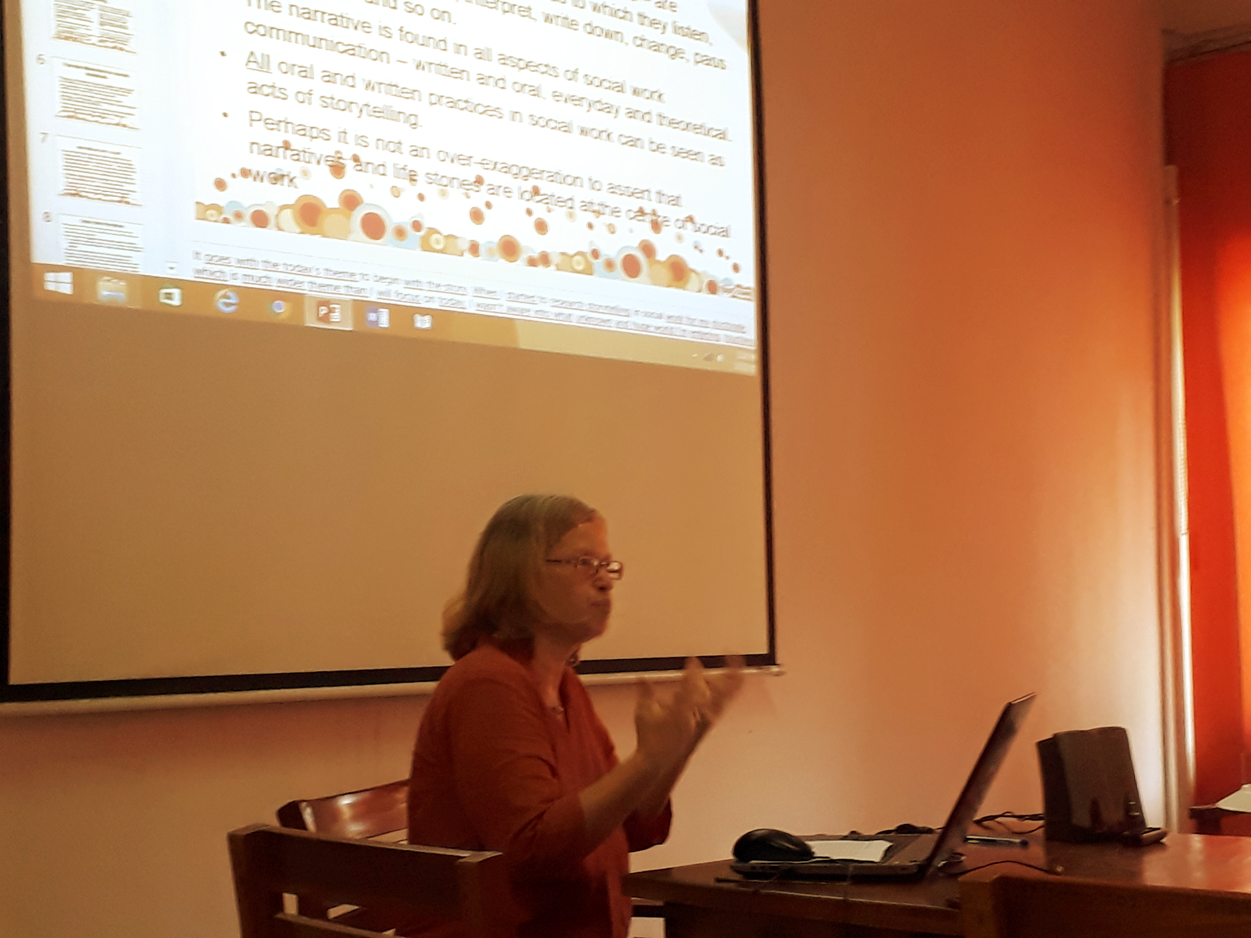 """Seminar on """"Narrative Methods and Storytelling in Social Work Research."""" – 23rd Feb."""