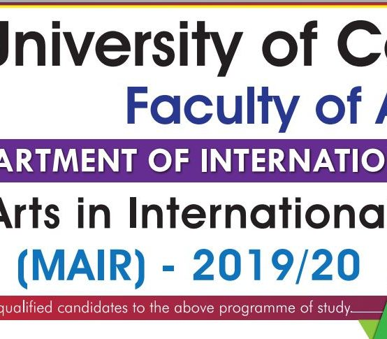 Master of Arts in International Relations – 2019