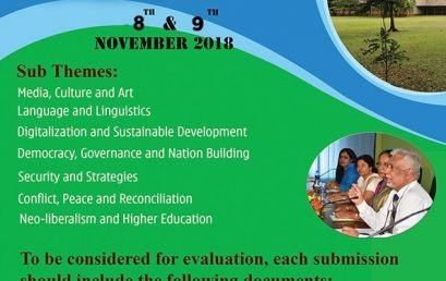 Annual Research Conference – Faculty of Arts, 15th & 16th Nov.