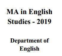 MA in English Studies – 2019