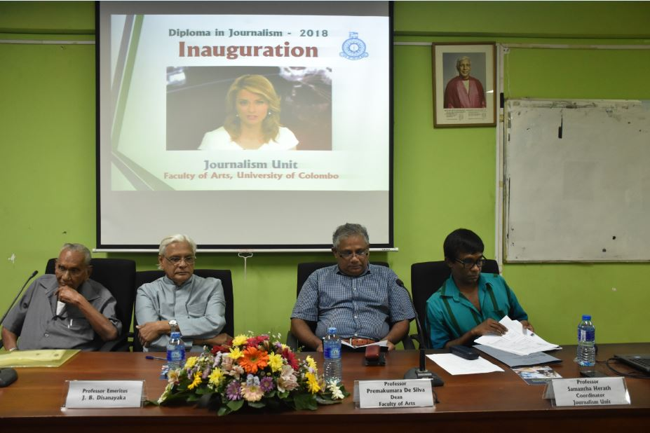 Inauguration Ceremony – Diploma in Journalism – 29th Sept.