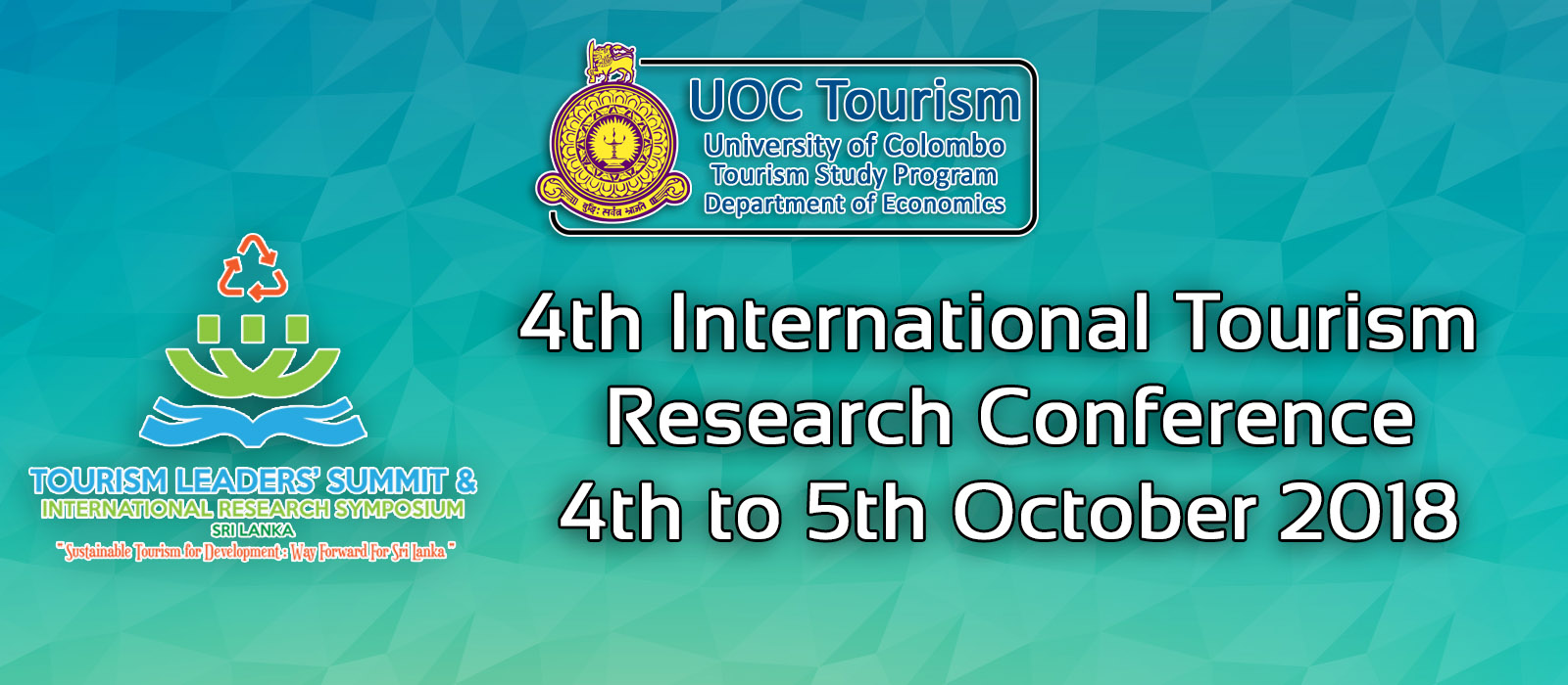 Tourism Leaders' Summit (TLS) and International Tourism Research Conference (ITRC) – 4th & 5th Oct.
