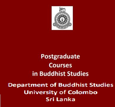 Masters in Buddhist Studies 2019 / 2020