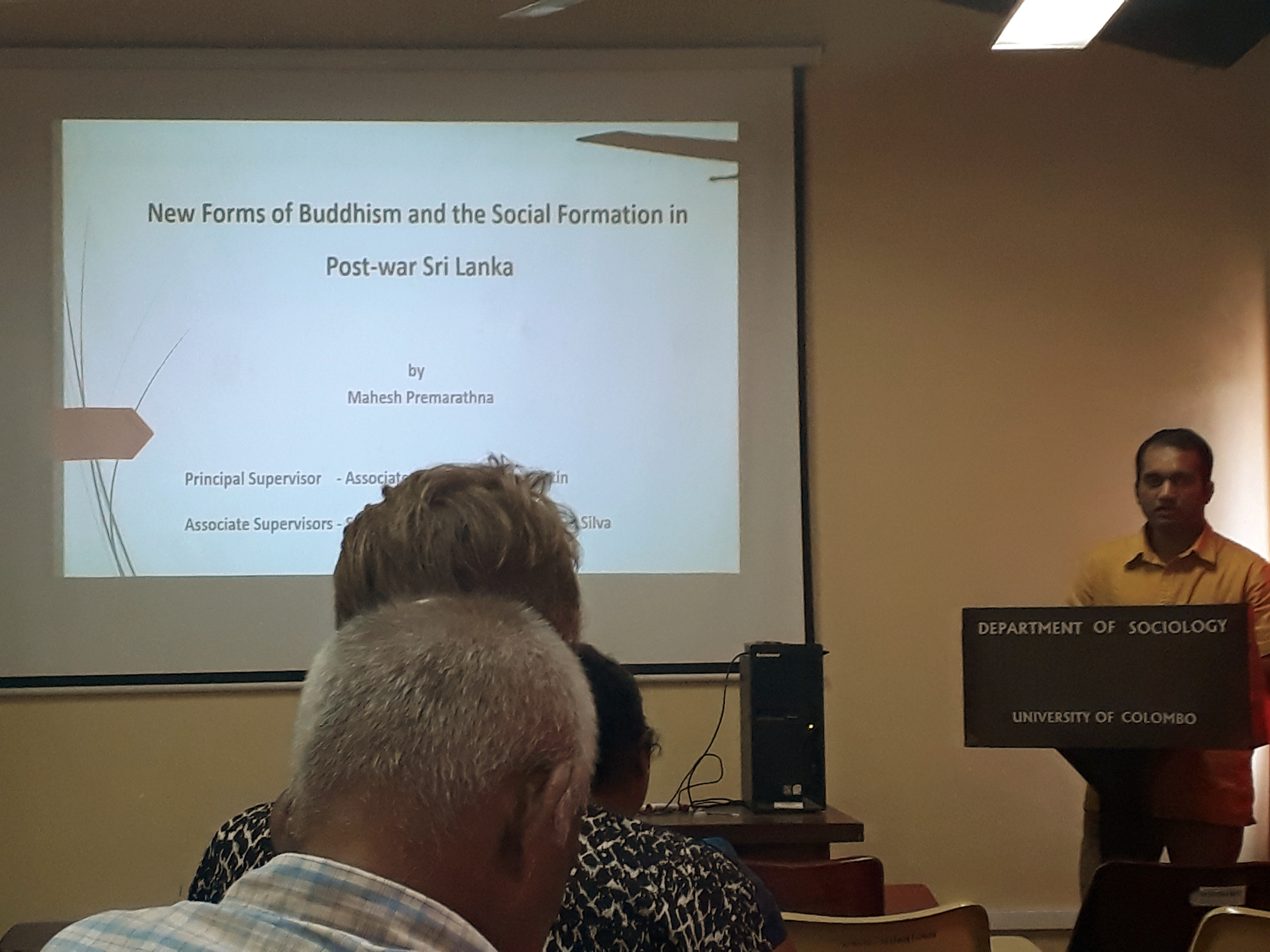 Monthly Seminar, Department of Sociology – 15th Nov.