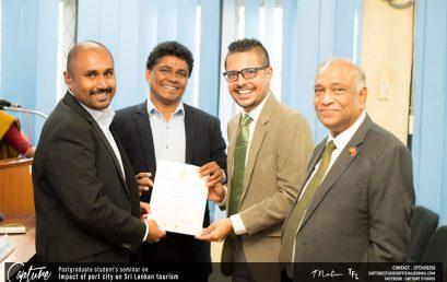 Postgraduate Seminar on 'Impact of Port City on Sri Lanka Tourism' – 12th Jan.