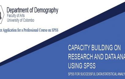 Professional Course on Capacity Building on Research and Data Analysis using SPSS – 2020