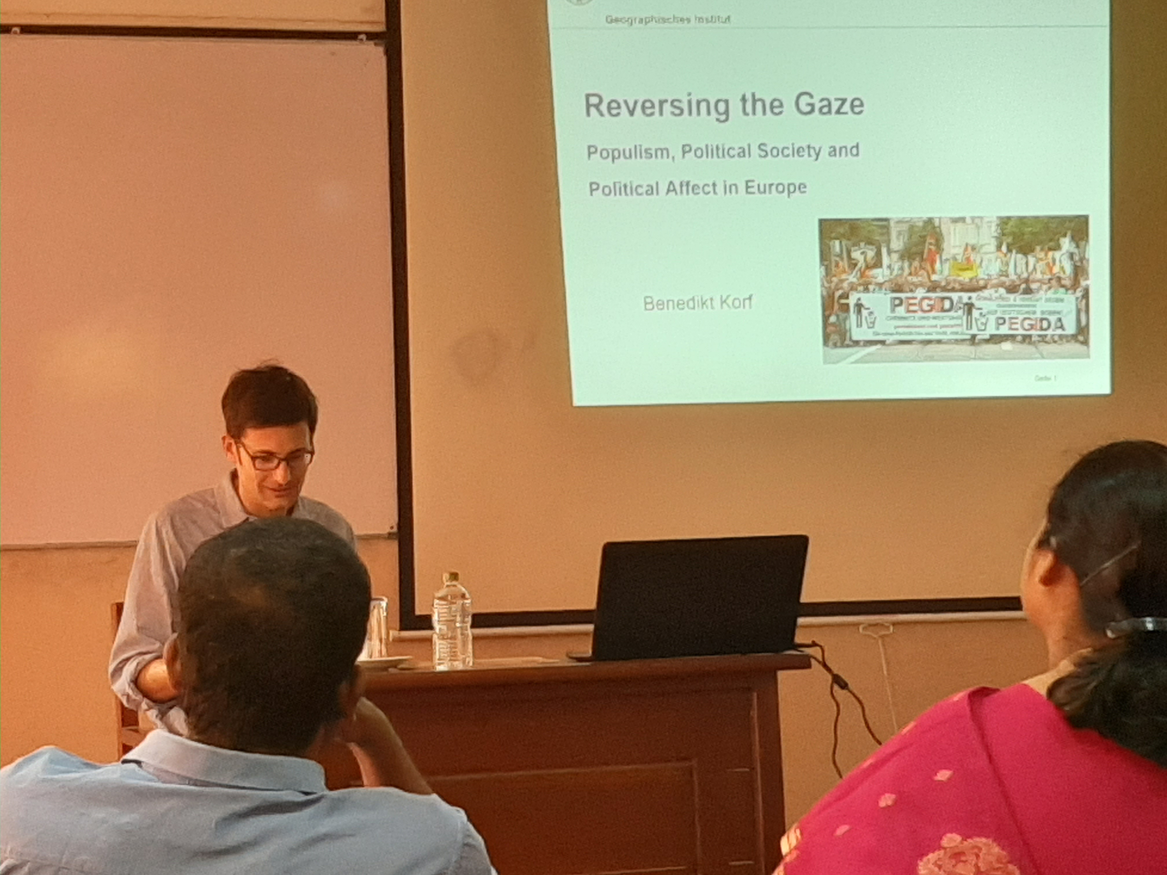 "Guest Lecture on ""Reversing the Gaze: Populism, Political Society and Political Affect in Europe and South Asia""- 29th Jan."