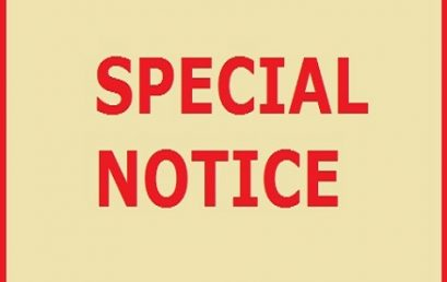 Special Notice to all Students and Teaching Staff – Faculty of Arts