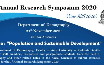 Call for Abstracts – 7th Annual Research Symposium 2020 – Department of Demography