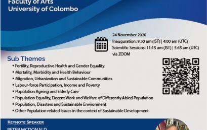 International Research Symposium (DemARS 2020) – 24th Nov.