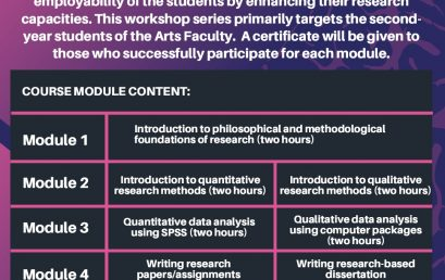 Research workshop for young academics and students