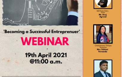 "Webinar on ""How to Become a Successful Entrepreneur ? "" – 19th April"