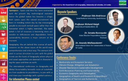 """International Conference on """"Geography and Global Sustainability"""" (ICGGS 2021) 09th – 10th Dec. 2021"""