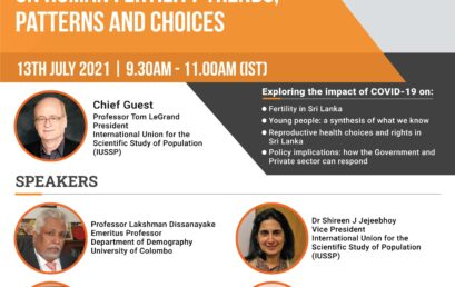Webinar on Impact of COVID-19 on Human Fertility Trends, Patterns & Choices – 13th July