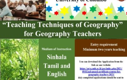 Advanced Certificate Course for Geography Teachers – 2021