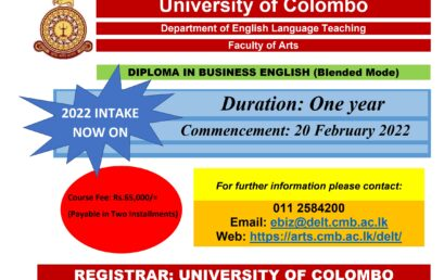 Diploma in Business English (Blended Mode) – 2022 intake